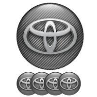 4 x 56 mm Logo Toyota Aufkleber Badge Wheels Silikon Nabendeckel Radkappen