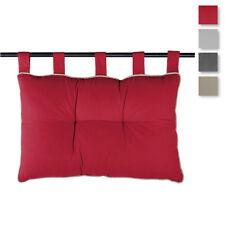 Cuscino per testata letto Duo con bottoni e bordino 45x70 cm S810
