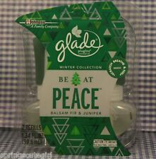 2 Glade Be At Peace Balsam Fire & Juniper Refills Glade PlugIns Scented Oil
