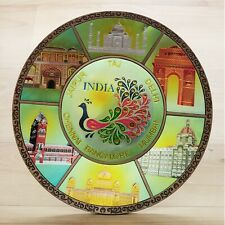 decorative plates Round engraved Indian monuments wall hanging with stand