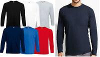 Plain T Shirt Long Sleeve Crew Neck Tee Shirt Top