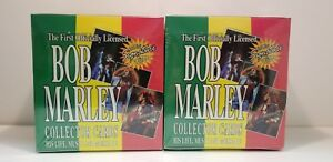2 box of 1995 Bob Marley Music Collector Trading Card Box Legend May Signature