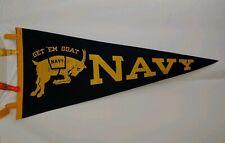 "Vintage NAVY Football Flag Pennant 1960  28"" Football RARE"