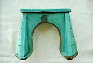 """HO VTG. WOODEN TUNNEL ENTRANCE 4 1/4""""T X 6 1/1""""W AT BASE X 2 3/8 THICK AT BASE"""