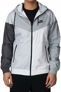 Mens Nike Sportswear Windrunner Jacket 902353-043 White/Grey New Size 2XL