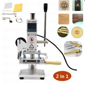 10x13CM Digital Hot Foil Stamping Machine T-Slot Leather PVC PU Card Embossing