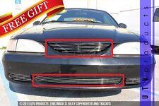 GTG 1994 - 1998 Ford Mustang V6 and GT 2PC Polished Billet Grille Insert Kit
