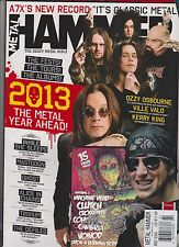 METAL HAMMER UK MAGAZINE FEBRUARY 2013, + CD & 2 POSTERS AC/DC AND CROSSFAITH.