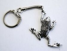 Leaping Frog Key-ring (keychain) in Fine English Pewter, Handmade (tsH)