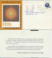 SCARCE Gold Coast Australia souvenir cover 1972 official issue inc insert 1975