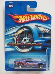 Hot Wheels 2005 Plymouth barracuda #183 5 Sp Roues