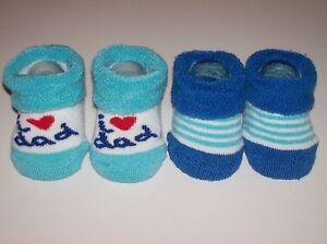 Dockers Crib Shoes/Booties/Socks Infant Baby Boy Sz 0-12 Mos. White/Blue  NIB
