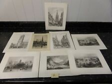 8 X ANTIQUE   ENGRAVINGS OF THE CITY OF BRISTOL. C.1890   R30