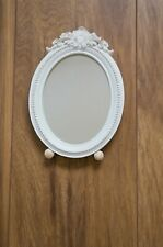 Shabby Chic French Style Oval Dressing table Mirror Off white Free standing