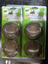 Set of 4 Ball Mason Wide Mouth Jar Sip & Straw + Lids (4 Lids+4 Straws) New EB85