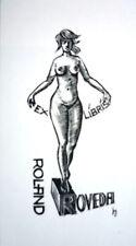 Erotic Ex libris - bookplate, Hans Hauke *1917 (Austria)