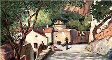 Positano: una Veduta.Costiera Amalfitana.Salerno.Stampa Antica.Passepartout.1904