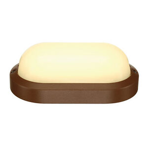Intalite exterior IP44 TERANG 2 XL wall ceiling light oval rust 22W LED 3000K