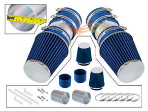 BLUE For 2008-2012 Mercedes Benz C350 3.5L V6 Short Ram Air Intake Kit+Filter