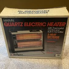 Vtg Marvin Fan Forced Quartz Radiant Space Heater W/ Built in Humidifier 4940