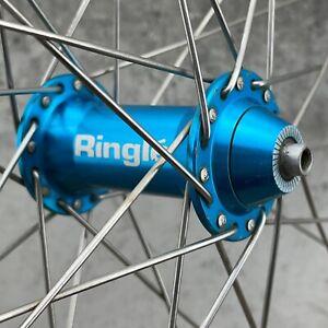 Ringle Hub Mavic Front Wheel 32 Hole 32h Blue Turquoise Yeti Vintage MTB 117