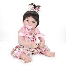 Full Body Soft Silicone Vinyl Lifelike Reborn Girl Doll Newborn Baby Girl 22inch