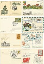 Poland: 11 postal stationery, mint and used . PO13