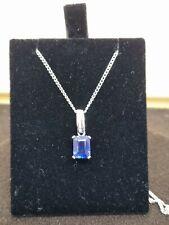 9ct/375 Kyanite & Diamond Pendant