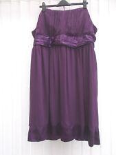 New Look Inspire UK 26 Purple chiffon evening Dress