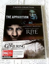 THE APPARITION/ RITE/ THE CONJURING–DVD, 3-DISC, R-4, LIKE NEW, FREE SHIPPING