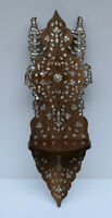 """33"""" Height Handmade Moroccan Wall Hanging Wood Shelf, Mother of pearl Inlaid"""