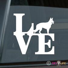 Love German Shepherd Sticker Die Cut Vinyl - park