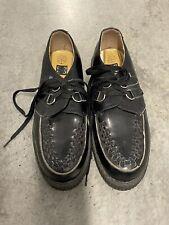 Men's TUK Creeper Black New Wave Punk Rockabilly Shoes Adult Size 12