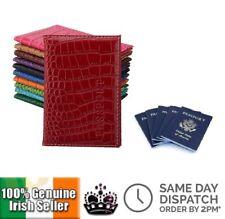 Passport Cover ID Wallet Credit Card Holder Unisex Travel Crocodile Pattern Gift