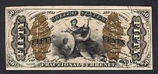"""US 50c Fractional Currency """"Justice"""" Red Back FR 1343 Ch AU"""