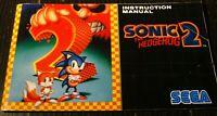 Sonic The Hedgehog 2 Sega Genesis Manual Instruction Booklet