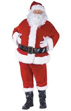 Complete Velour Santa Claus Suit Plus Size Adult Costume, XL(50-54)