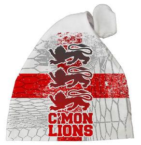 "England Football Baby Hat ""C'mon Lions"" baby Subli Print hat Fan Team Gift"