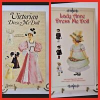 Colonial Ribbon And Lace Paper Doll Pattern #2 RIGHT /& LEFT With Umbrella