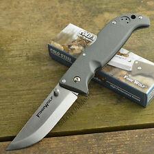 Cold Steel Finn Wolf AUS 8A OD Green Handle Folding Tactical Knife 20NPFZ
