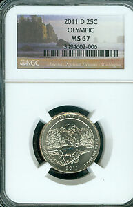 2011-D OLYMPIC PARKS QUARTER NGC MS 67 2ND FINEST GRADE  .
