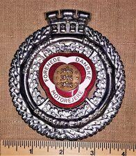 FDM Forenede Danske Motorjere Denmark Enamel Automobile Car Club Radiator Badge