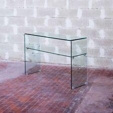 Consolle in vetro curvo Shelf - soggiorno, salotto, vetro curvato, 12mm. Ripiano