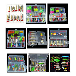 Fishing Spoon Set Metal Bait Soft Lure Freshwater Feather Tackle Artificial Lake