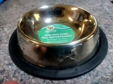 NEW- 2 Non-Skid Dog/Cat Pet Food/Water Bowls With Paw Print 6 Oz