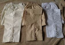 NEW  CAPRI PENCIL CIG STYLIST PANTS TROUSERS IN COTTON WITH BUTTONS DETAILS