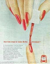 PUBLICITE ADVERTISING 115  1965  le vernis à ongles REVLON