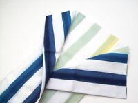 West Elm Pillow Cover NWT Impressionist Landscape 20x20 Blue Bird Linen Silk