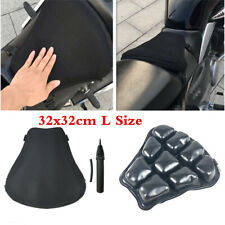 Universal Air Pad Motorcycle Airbag Seat Cushion Cover+Pump Accessories 32X32cm