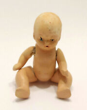 "Vintage 3"" Bisque Strung Baby Doll Painted Face Occupied Japan"